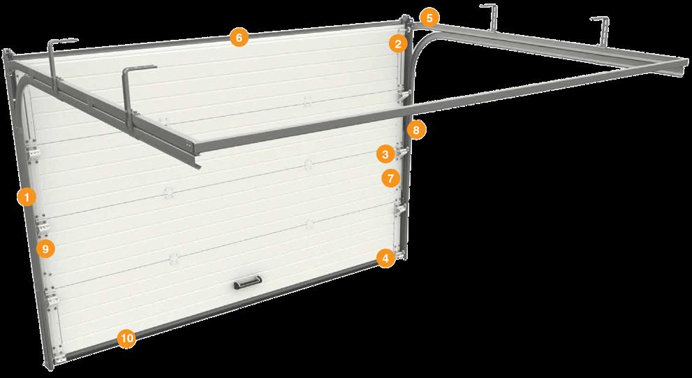 Подъемные секционные ворота для гаража